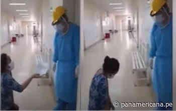 Chepén: Mujer suplicó de rodillas que atiendan a su familiar | Panamericana TV - Panamericana Televisión