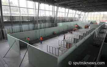 Temporary Hospital for COVID-19 Patients Under Construction in Moscow's Sokolniki Park - Video - Sputnik International