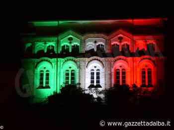 Anche Dogliani Castello è illuminato con i colori della bandiera italiana - http://gazzettadalba.it/