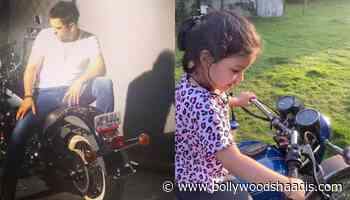 Mahendra Singh Dhoni's Daughter, Ziva Singh Dhoni Learns To Ride Bike, Video Inside - BollywoodShaadis.com