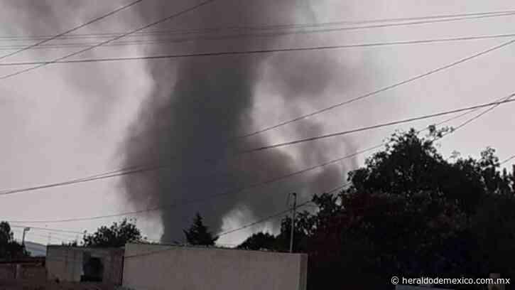 Reportan formación de tornado en Perote, Veracruz: VIDEO - El Heraldo de México