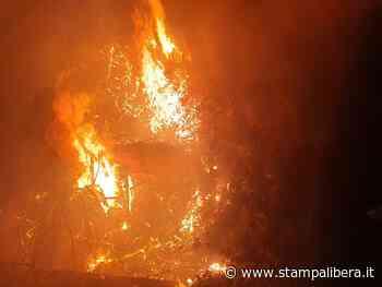 Vasto incendio a Massa Santa Lucia. In azione i canadair - Stampalibera.it