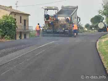 Asfaltatura strada tra bivio Passionisti e frazione di Santa Lucia - IN DIES