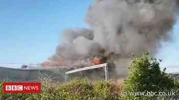 Barking warehouse fire tackled by 20 crews