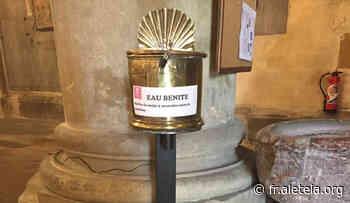 Un bénitier sans contact à la basilique d'Argenteuil - Aleteia : un regard chrétien sur l'actualité, la spiritualité et le lifestyle