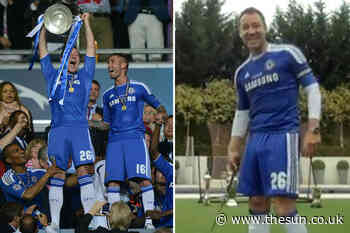 John Terry has Redknapp and McIlroy in stitches by rocking THAT full Chelsea kit for trophy challenge in Sky - The Sun