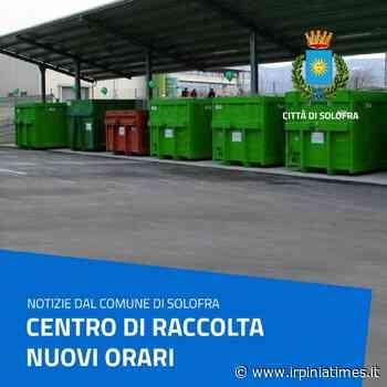 Solofra, Centro di Raccolta: info e nuovi orari - https://www.irpiniatimes.it
