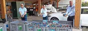 Gesammalte Deckel wurden vom Rotary-Club zum Bauhof Freisen gebracht - Saarbrücker Zeitung