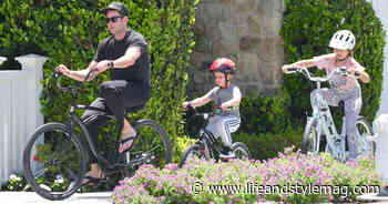 Tarek El Moussa, Girlfriend Heather Rae Young and His Kids Ride Bikes - Life&Style Weekly