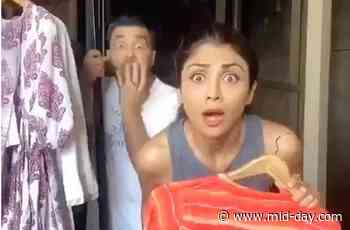 Shilpa Shetty Kundra shares a funny video of hubby, domestic help and kissing - Mid-day