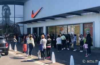 Val-d'Oise. Déconfinement : le Nike factory store d'Herblay attire les foules - actu.fr