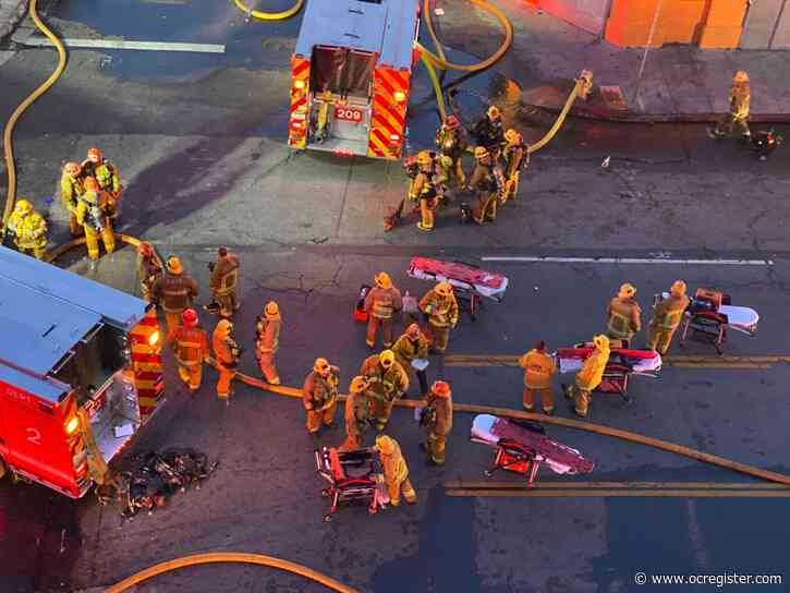 'Mayday! Mayday! Mayday!': Hear firefighters' calls for help from downtown L.A. fire