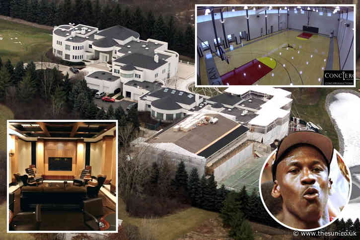 Inside Michael Jordan's £12m house he's been selling for EIGHT years with basketball court, cigar lounge and No 23 gates