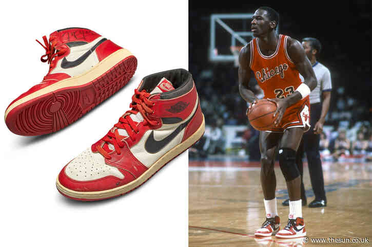 Michael Jordan's game-worn Air Jordan's from 1985 sell for world-record £460,000 in Sotheby's auction