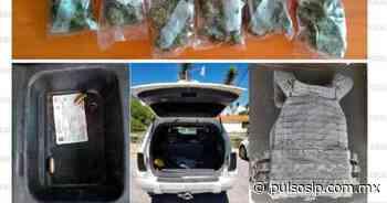 Arrestan en Matehuala a un hombre con droga, cartuchos y un chaleco táctico - Pulso de San Luis