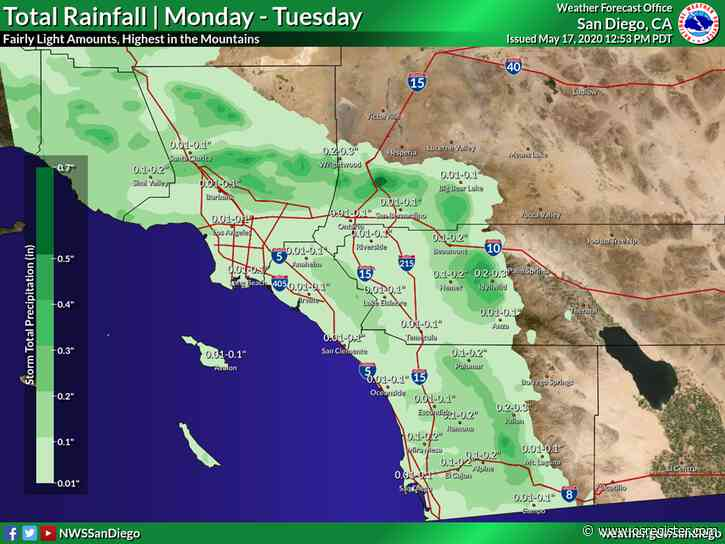 Rain — yes, rain — is likely to fall today in Southern California