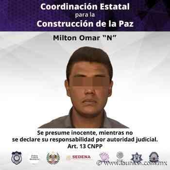 Ejecuta PIC orden de aprehensión por robo a comercio en Jiutepec - Unión de Morelos