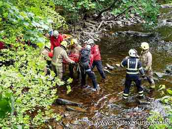 Mountain rescue team stretcher injured boy, 12, from Calderdale woods - Halifax Courier
