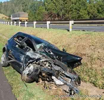 Duas pessoas ficam feridas em acidente na BR-376, em Ponta Grossa - Paraná Portal