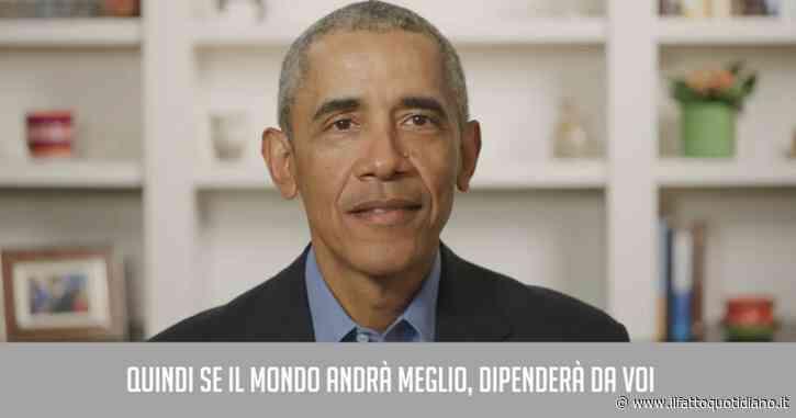 """Barack Obama, il discorso ai maturandi: """"Il Covid vi ha fatto crescere più in fretta e vi ha svelato che non sempre chi è al comando sa cosa fare"""""""