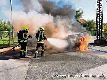Meiningen: Auto junger Mutter steht plötzlich in Flammen - inSüdthüringen