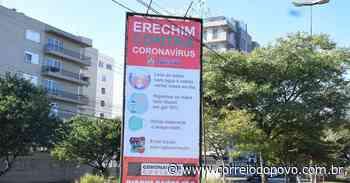 Frederico Westphalen tem locais públicos isolados e Erechim instala totens educativos - Jornal Correio do Povo