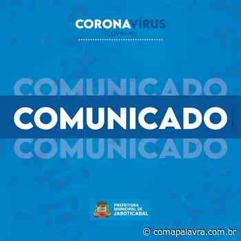 Coronavírus: Boletim Epidemiológico de Jaboticabal mostra resultados nesta terça-feira, 12 - Com a Palavra