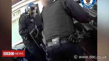 Safe thrown from window during Birmingham raid