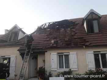 A Neuilly-en-Thelle, une toiture prend feu et la famille est relogée - Courrier Picard