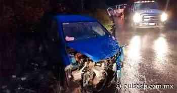 Aparatoso choque en el tramo Ciudad Valles-El Naranjo deja tres lesionados - Pulso de San Luis