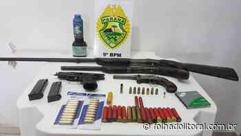 Pistolas, garrucha e uma espingarda são apreendidas em Matinhos - Folha do Litoral News