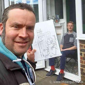 Portraits on the doorstep capture strangest of times