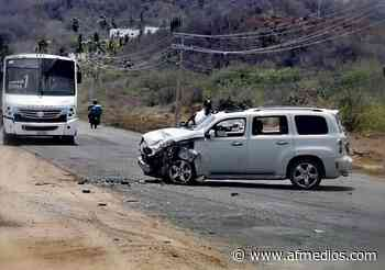 Choque frontal entre 2 camionetas en zona de Miramar - AFmedios