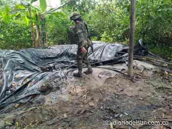 Así fueron desmanteladas tres refinerías ilegales en Piamonte, Cauca - Diario del Sur