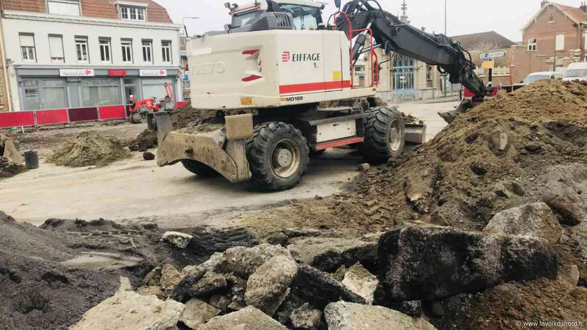 Le chantier de la gare pôle d'échanges à Seclin reprend ce mardi - La Voix du Nord