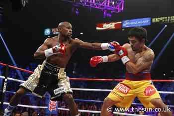 Floyd Mayweather insists young fighters calling out 'old' Pacquiao, 41, is 'sad' and tells them to fight someo - The Sun