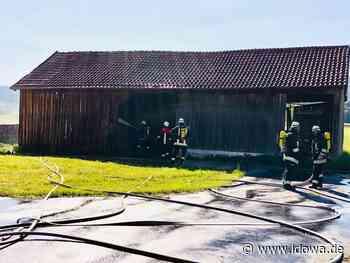 Furth im Wald: Feuerwehr bekämpft Scheunenbrand in Degelberg - Straubinger Tagblatt