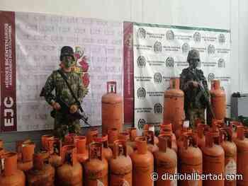 Ejército halló en Cartagena del Chairá depósito ilegal con más de 300 cilindros de gas que serían utilizados en acciones terroristas - Diario La Libertad