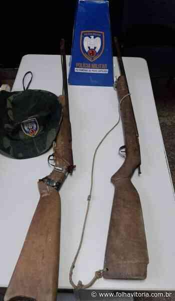 Homem é detido com duas espingardas em zona rural de Aracruz - Jornal Folha Vitória
