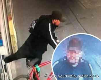 Watch: man steals bike from Sutton pharmacy