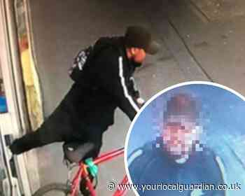 Watch: man steals delivery bike from Sutton pharmacy