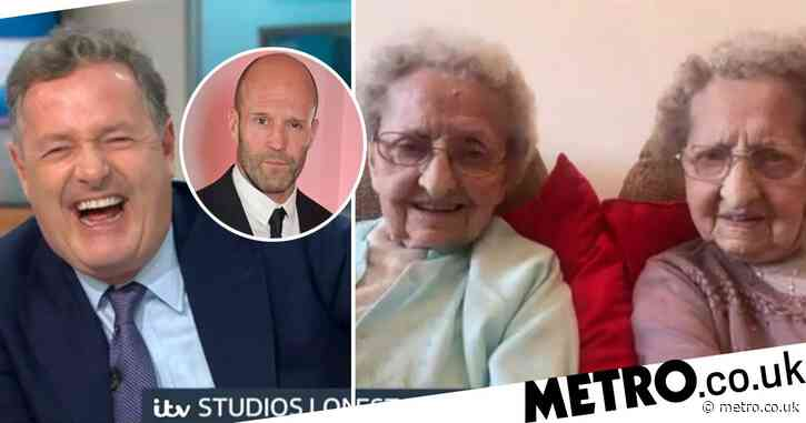 Piers Morgan howls as Britain's oldest twins, 95, boast about 'plenty of sex' and share X-rated Jason Statham fantasy: 'One night with him….'