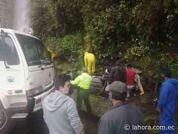 Accidente en la vía Baños - Puyo - La Hora (Ecuador)