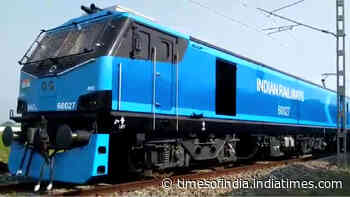 Indian Railways' most powerful locomotive begins its journey from UP's Deen Dayal Upadhyaya Station