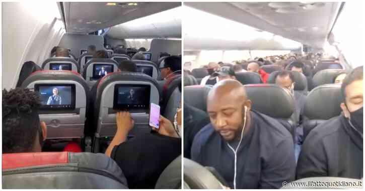 """Coronavirus, i posti sull'aereo sono quasi tutti occupati. La passeggera: """"Mi sento in pericolo"""""""