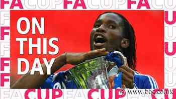 Didier Drogba wins 2007 FA Cup for Chelsea against Manchester United