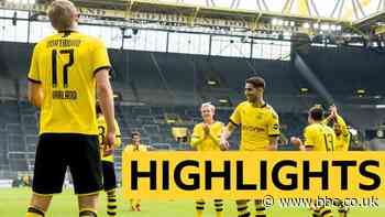 Borussia Dortmund beat local rivals Schalke 4-0 as football returned in Germany