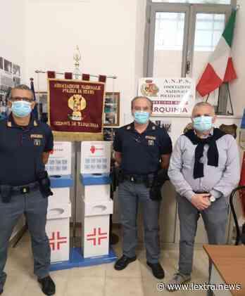 La sezione A.N.P.S. di Tarquinia dona mascherine e dispenser alle forze di Polizia - lextra.news - lextra.news