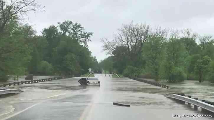 Water Breaches Bridge Amid Record Flooding in Central Ohio