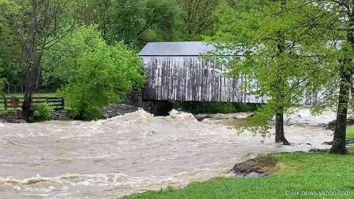 Creek 'Raging' Under Covered Bridge After Northern Kentucky Rain
